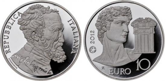 10 евро микеланджело