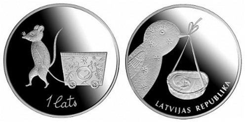 «Детская монета» Латвии (1 лат)