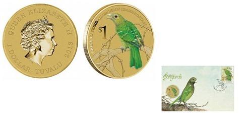 "Монета ""Зеленый дрозд"" прилетела в Австралию"