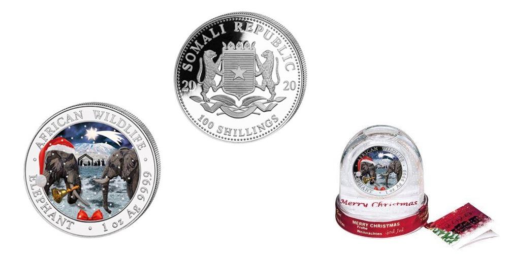 Рождественская монета Слон Сомали