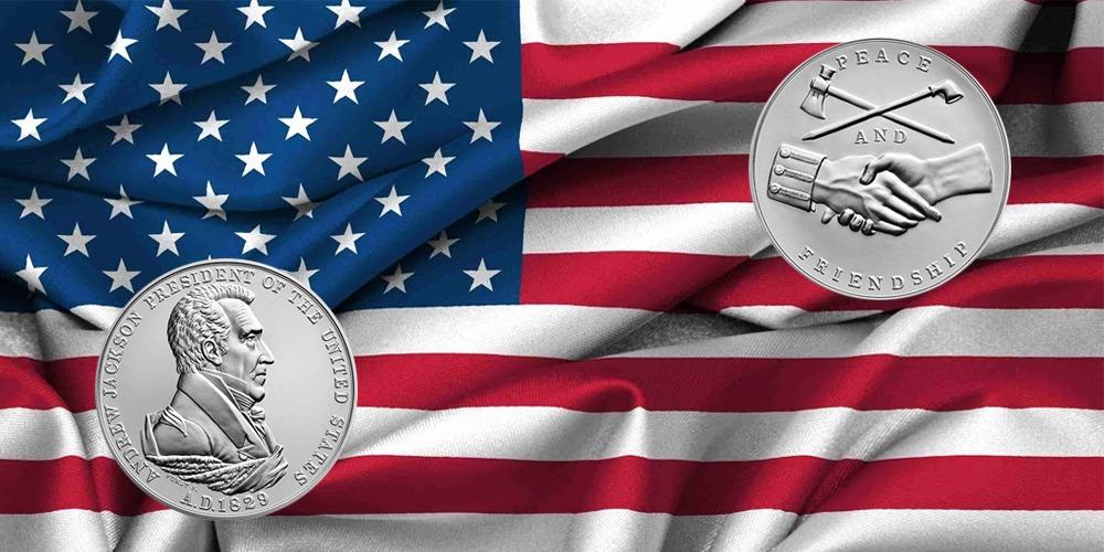 Президентская серебряная медаль Эндрю Джексона