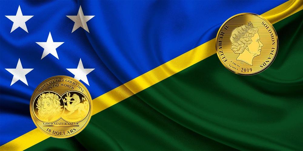 Золотой статер из Пантикапея Соломоновы острова