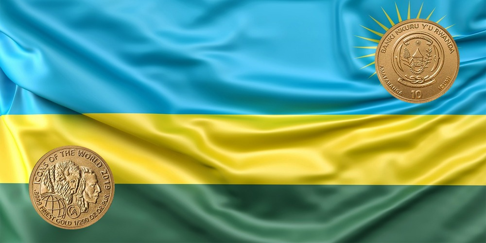 Бизон баффало и голова индейца Руанда