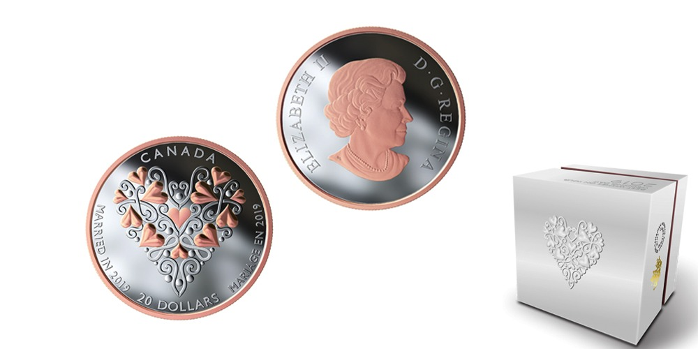 Свадебная монета 2020 Канада