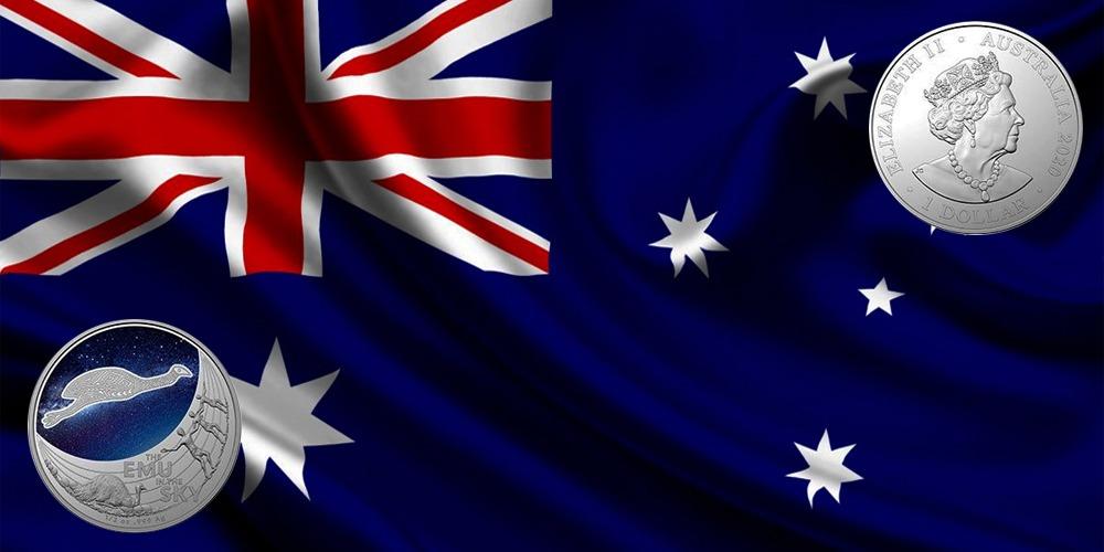 Силуэт Эму в звездном небе Австралия