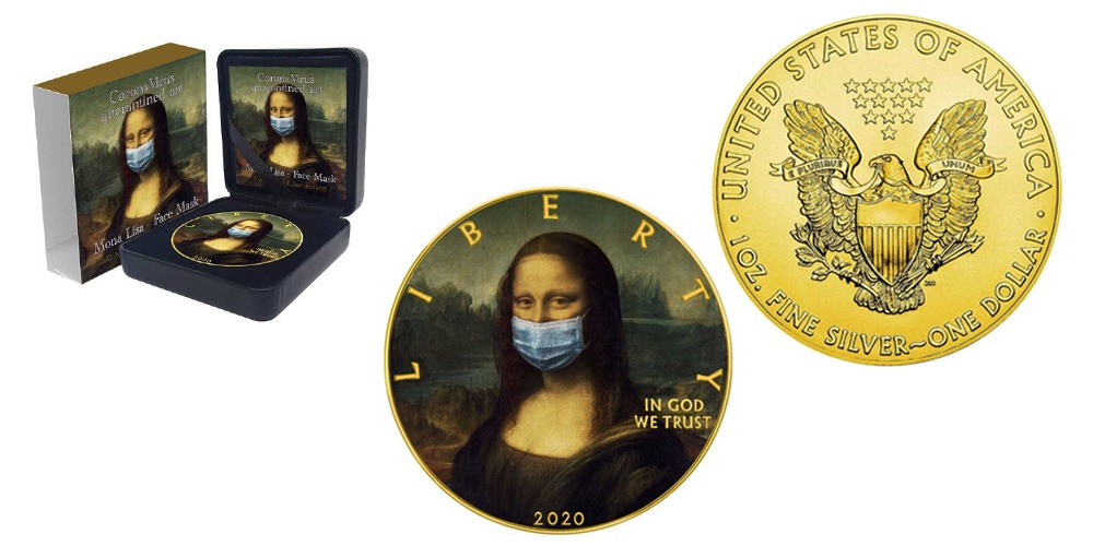 Мона Лиза в маске США 2020