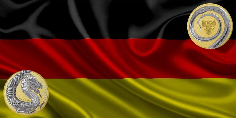 Дракон Фафнир позолота Германия 2020