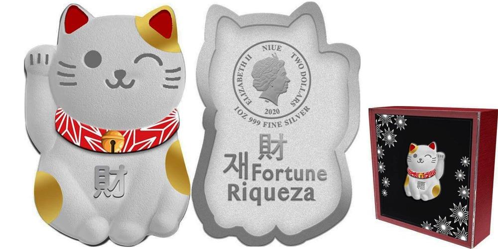 Манящий кот фортуна Ниуэ 2020