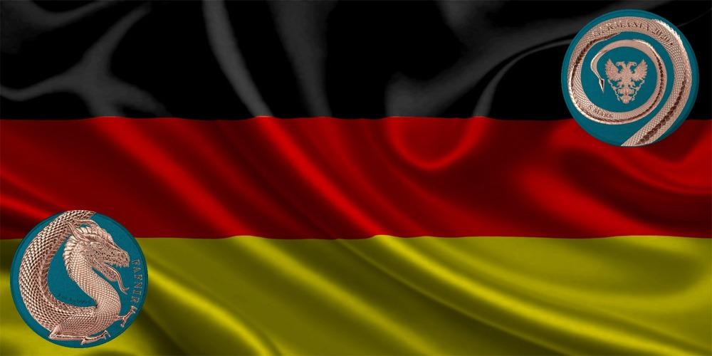 дракон Фафниру синий Германия 2020