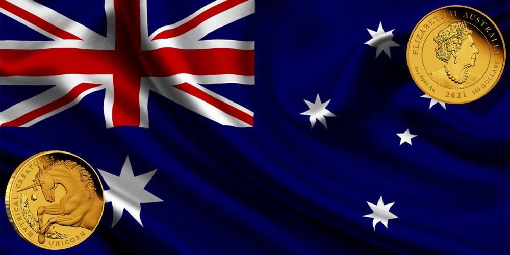 Единорог золото Австралия 2020
