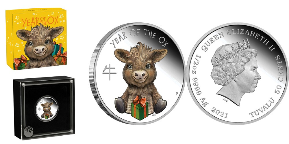 Год быка детеныш Тувалу 2021