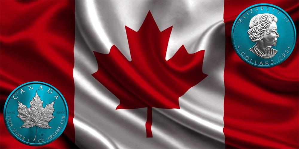 Кленовый лист синой Канада 2021