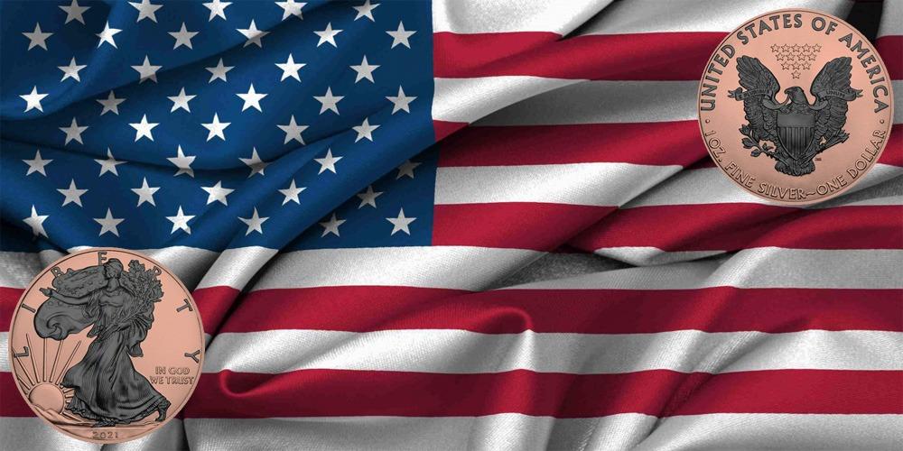 Ходячая свобода США розовое золото 2021