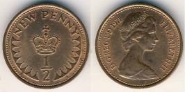 1/2 пенни 1971 Великобритания