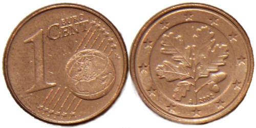 1 евроцент 2002 «А» Германия