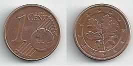 1 евроцент 2002 «J» Германия