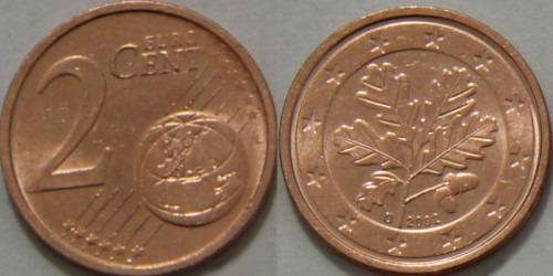 2 евроцента 2002 «D» Германия