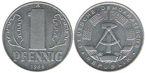 Монета 1 пфенниг 1968 цена александр 3 1883 цена монеты