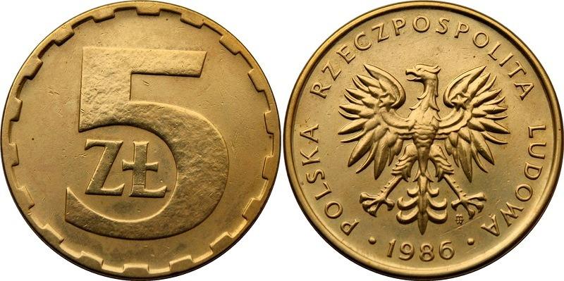 Монета5злотых1986цена монеты мавритании