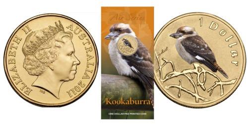 1 доллар 2011 Австралия — птица Кукабарра