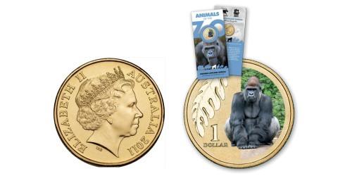 1 доллар 2012 Австралия — Горилла западной долины