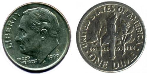 10 центов 1999 P США