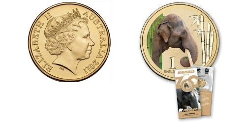 1 доллар 2012 Австралия — Азиатский слон