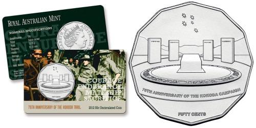 50 центов 2012 Австралия — 70 лет со дня битвы за Кокоду