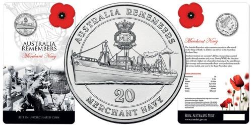 20 центов 2012 Австралия — День памяти ветеранов