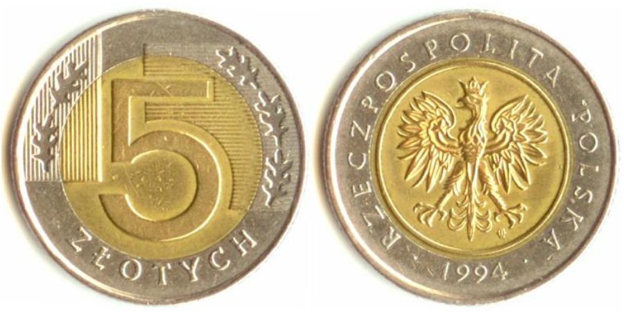 Сколько стоит польские 5 1994 года цена продажа гривны в москве
