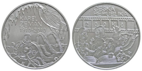 200 крон 2011 Чехия — 100-летие со дня рождения Карела Земана