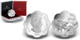 15 канадских долларов 2012 Канада — Дракон — серия Лунный Лотос