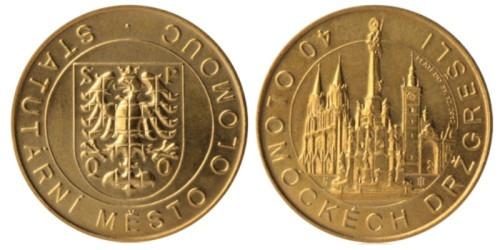 1 сувенирный дукат 2011 Чехия — Оломоуцкий край