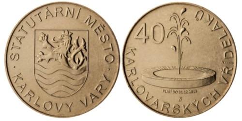 1 сувенирный дукат 2012 Чехия — Карловы Вары