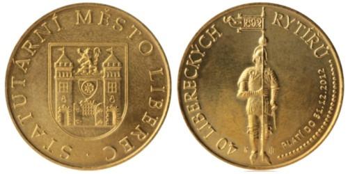1 сувенирный дукат 2011 Чехия — город Либерец