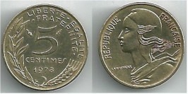 5 сантимов 1978 Франция