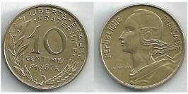 10 сантимов 1967 Франция