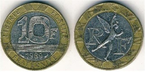 10 франков 1989 Франция
