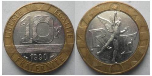 10 франков 1990 Франция