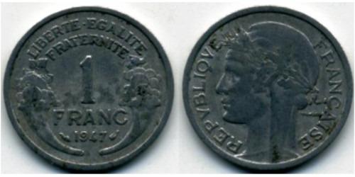 1 франк 1947 Франция