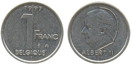 1 франк 1997 Бельгия (FR)
