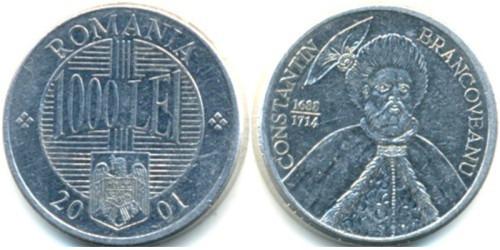 1000 лей 2001 Румыния