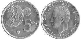 5 песет 1980 Испания — 82 — внутри звезды
