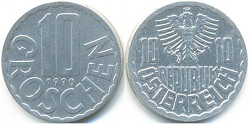 10 грошей 1990 Австрия