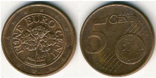 5 евроцентов 2003 Австрия