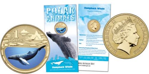1 доллар 2013 Австралия — Горбатый кит