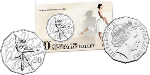 50 центов 2012 Австралия — 50 лет австралийскому балету