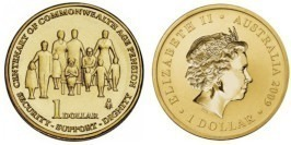 1 доллар 2009 Австралия — 100-лет австралийской организации «Общество пожилых людей»