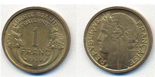 1 франк 1939 Франция