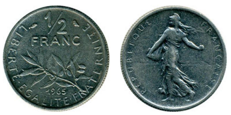 1 2 франка 2 гривны 1998